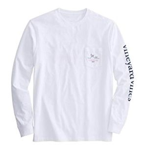 Vineyard Vines Long Sleeve Pocket Tee